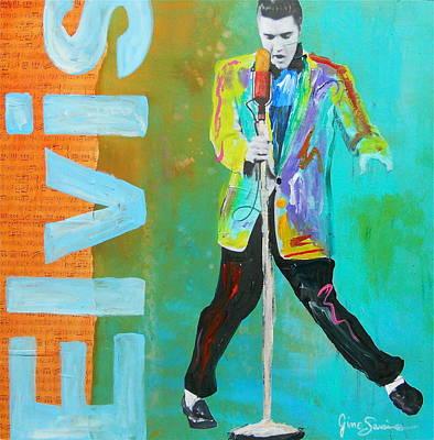 Gino Painting - Elvis by Gino Savarino