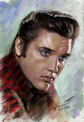 Elvis Presley Drawing - Elvis King Of Rock And Roll by Viola El