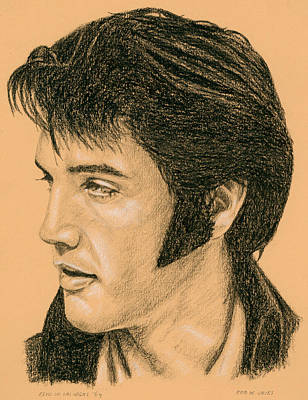 Singer Drawing - Elvis Las Vegas 69 by Rob De Vries
