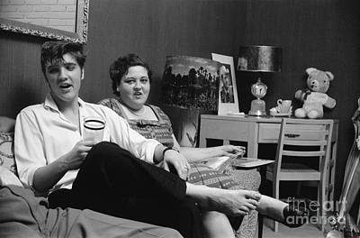 Elvis Presley Photograph - Elvis Presley And His Mother Gladys 1956 by The Phillip Harrington Collection