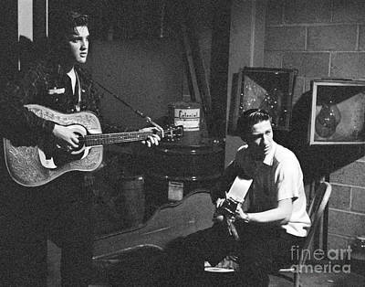 Elvis Presley And Scotty Moore 1956 Print by The Phillip Harrington Collection