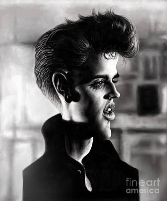 Elvis Presley Drawing Drawing - Elvis Presley by Andre Koekemoer