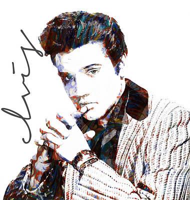 Elvis Presley Mixed Media - Elvis Presley by Celestial Images