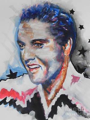 Elvis Presley Print by Chrisann Ellis