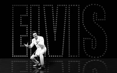 Elvis Presley Digital Art - Elvis Presley by Cool Canvas