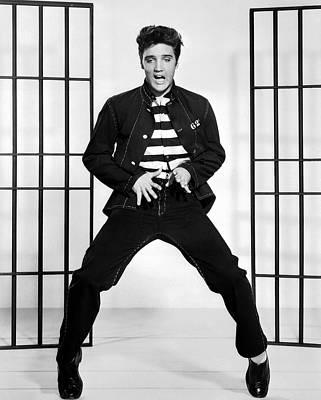 Beloved Photograph - Elvis Presley In Jailhouse Rock 1957 by Mountain Dreams