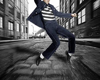 Elvis Presley In New York City Street Original by Tony Rubino