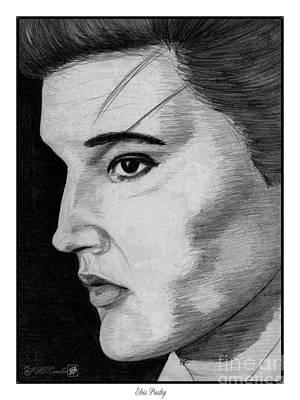 Elvis Presley Drawing Drawing - Elvis Presley by J McCombie