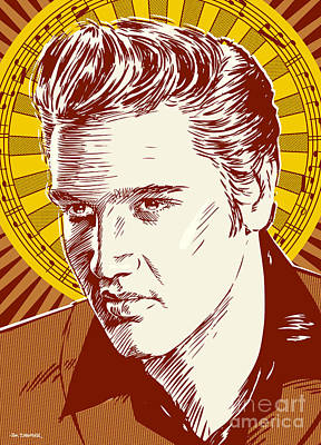 Elvis Presley Digital Art - Elvis Presley Pop Art by Jim Zahniser