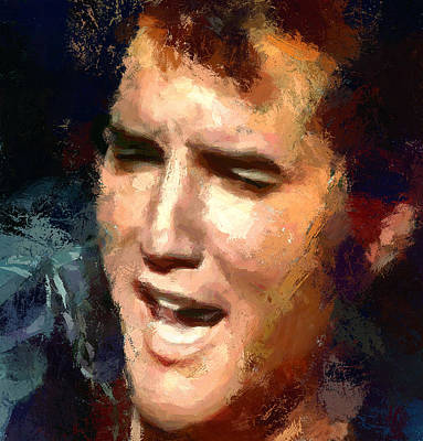 Elvis Presley Digital Art - Elvis Presley Portrait 2 by Yury Malkov