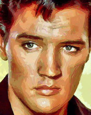 Elvis Presley Digital Art - Elvis Presley Portrait by Yury Malkov