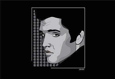 Caricature Digital Art - Elvis Pop Art by Sandi Fender