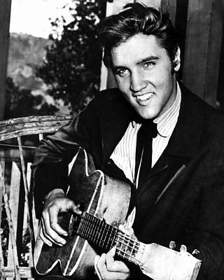 Heartbreak Photograph - Elvis Presley Smiles  by Retro Images Archive