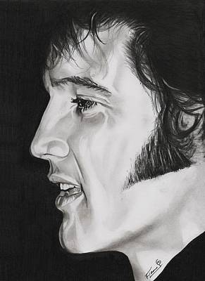 Hunk Drawing - Elvis Presley  The King by Fred Larucci