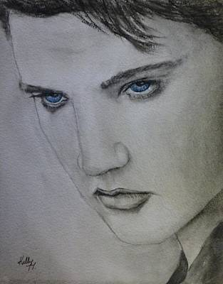 Elvis Painting - Elvis's Blue Eyes by Kelly Mills