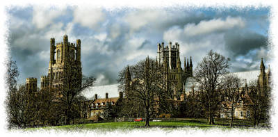 Ely Cathedral In Watercolors Print by Joanna Madloch