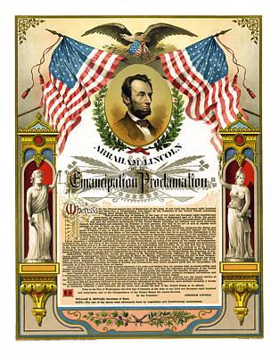 Liberated Photograph - Emancipation Proclamation Tribute 1888 by Daniel Hagerman