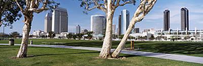San Diego Embarcadero Park Photograph - Embarcadero Marina Park, San Diego by Panoramic Images