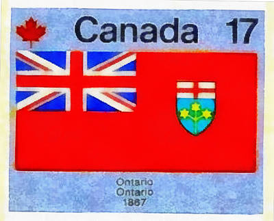 Toronto Maple Leafs Mixed Media - Emblem Of Ontario by Mario Carini