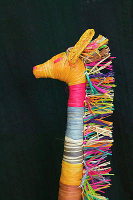 Embroidered Photograph - Embroidered Giraffe Toy, Kenya by Keren Su