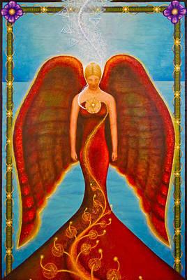 Emeliah Angel Of Inner Journeys Original by Kevin Chasing Wolf Hutchins