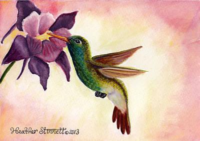 Plumb Painting - Emerald Beauty  by Heather Stinnett