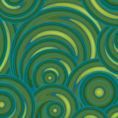 Emerald Green Abstract Print by Frank Tschakert