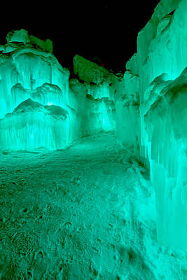 Emerald Ice Print by Greg Fortier