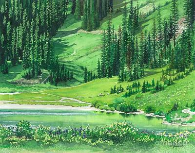 Emerald Lake Print by Barbara Jewell
