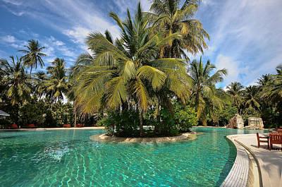 Color Transparency Photograph - Emerald Paradise. Sun Island Resort. Maldives by Jenny Rainbow