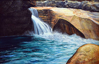 Franconia Notch Painting - Emerald Pool by Frank Wilson