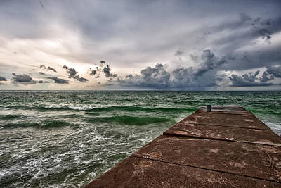 Storm Photograph - Emerald Sea by Renee Sullivan
