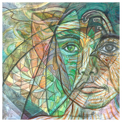 Pigeon Mixed Media - Emerald Visionary by Elizabeth D'Angelo