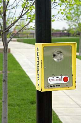 Indianapolis Photograph - Emergency Call Box by Jim West