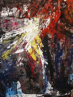 Marcelle Hamelin Mixed Media - Emergent by Marcelle Hamelin