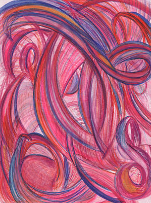 Action Drawing - Emerges From Us by Kelly K H B