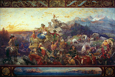 Manifest Destiny Painting - Emigrants To West, 1862 by Granger