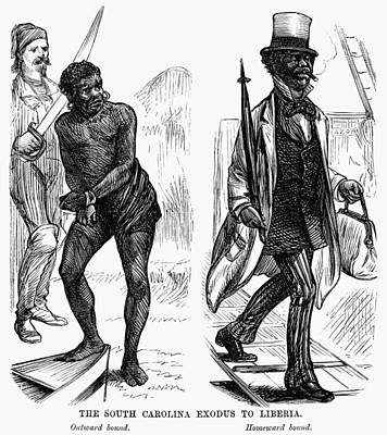 Emigration To Liberia, 1878 Print by Granger