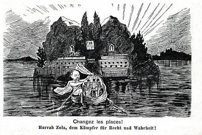 Emile Zola Print by Collection Abecasis
