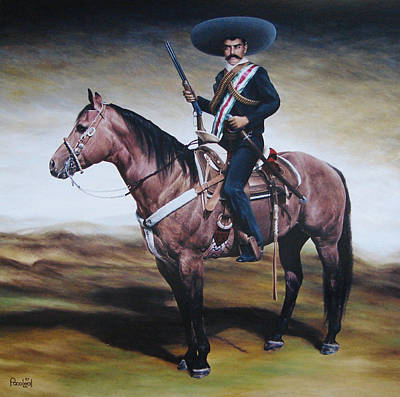 Emiliano Zapata 6x6 Ft Print by Paco Leal