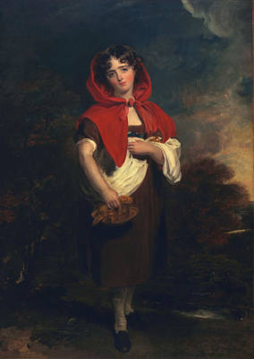 Emily Anderson Little Red Riding Hood Print by Thomas Lawrence