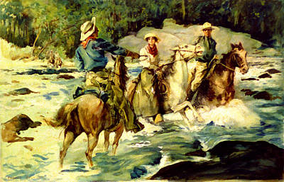 Emilys Horse Wrangler Print by Thomas Fogarty