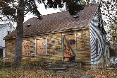 Eminem's Childhood Home Taken On November 11 2013 Print by Nicholas  Grunas