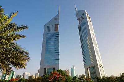 Twin Towers Photograph - Emirate Twin Towers, Dubai, United Arab by Keren Su
