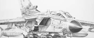 Tornado Drawing - Emma by James Baldwin Aviation Art