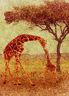 Painter Digital Art - Emma's Giraffe by Jack Zulli