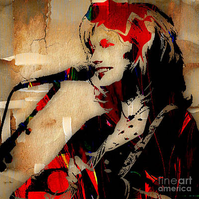Folk Mixed Media - Emmylou Harris Collection by Marvin Blaine