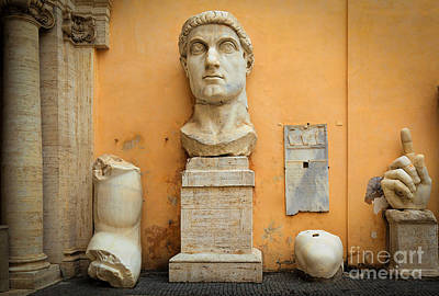 Rome Photograph - Emperor Constantine by Inge Johnsson