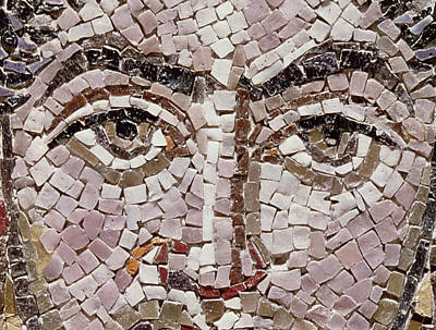 Emperor Justinian I 483-565 C.547 Ad Mosaic Detail Of 140283 Print by Byzantine School