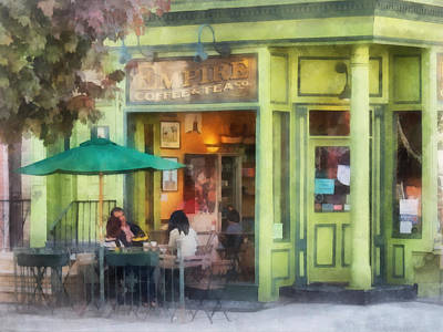 Chair Photograph - Hoboken Nj - Empire Coffee And Tea by Susan Savad